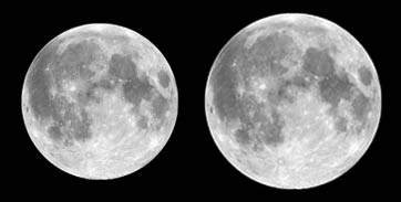 Apogee is the furthest distance of Earth to the Moon and Perigee closest distance from Earth to the Moon.
