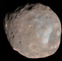 Mars larger Moon Phobos
