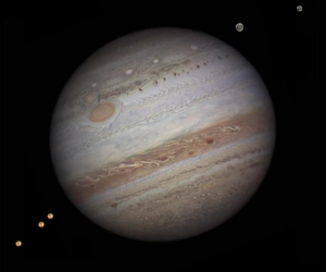 Jupiter and its visible moons